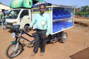 Solar power tricycle